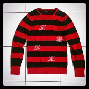 Marc Jacobs Sweaters - Marc Jacobs red and black striped kitty sweater