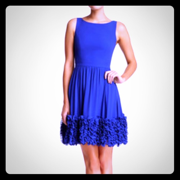 Minuet Dresses & Skirts - Minuet Blue Fit & Flare Dress w Ruffle Hem - DR-28