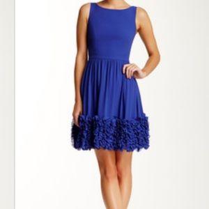 Minuet Dresses - Minuet Blue Fit & Flare Dress w Ruffle Hem - DR-28