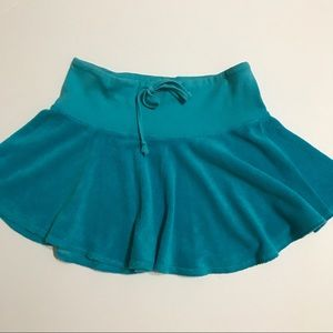 Juicy Couture Skirts - JUICY COUTURE Tourqoise Terry Mini Skirt [SK-10]