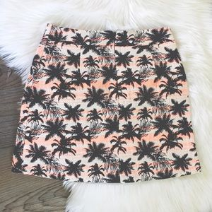 Topshop Skirts - Topshop Tropical Palm Tree Skirt