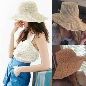 Urban Outfitters Accessories - NWOT urban outfitters straw floppy beach hat pack