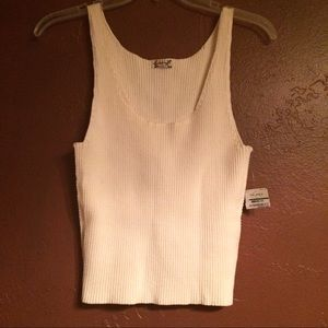 Free People Ribbed Knit Crop Tank Top
