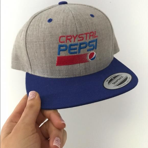 de07abad422 Crystal Pepsi SnapBack Hat. M 595250109c6fcf9dc20b5c07