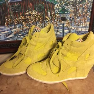 Ash Shoes - Limited by Ash lime green wedge sneakers 39 8.5