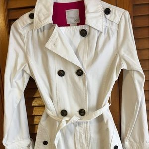 Old Navy white trench - kid size XL
