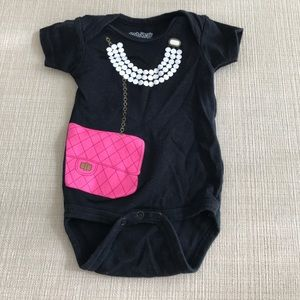 Sara Kety Other - Pearls and pocketbook onesie