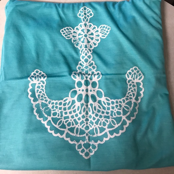 ef4ccc04325 Plus Size Tahiti Blue Lace Anchor Tank