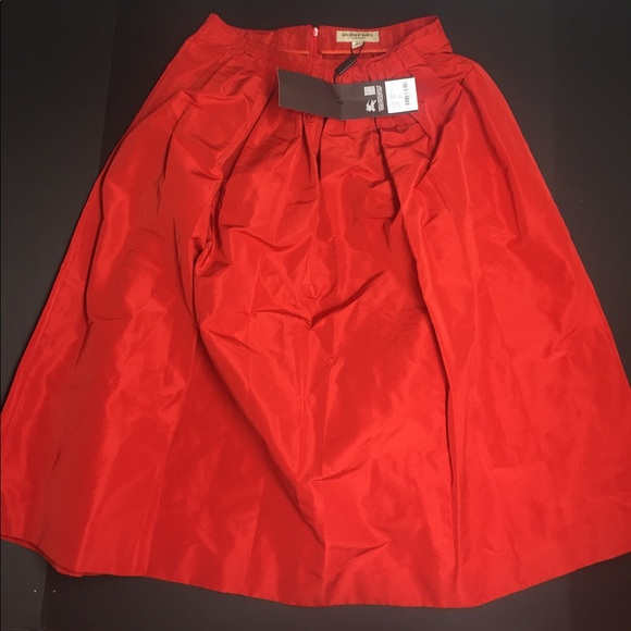 ceecb923652e Burberry--Red Orange Pleated Skirt Size 6US