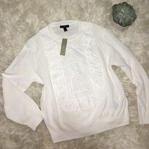 J.Crew 100% cotton white top