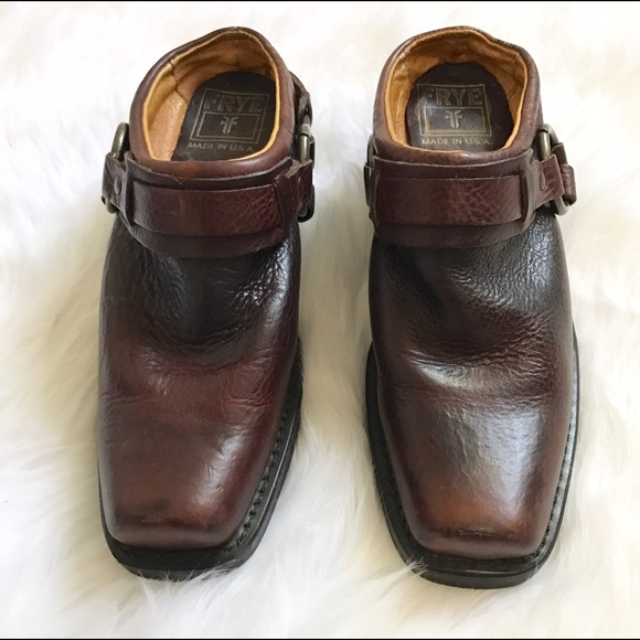 78 frye shoes frye carson harness brown clog boots