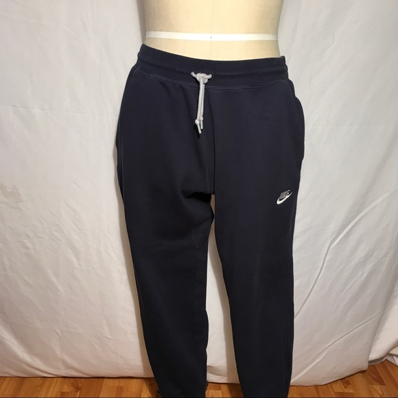nike fleece cuff sweatpants mens