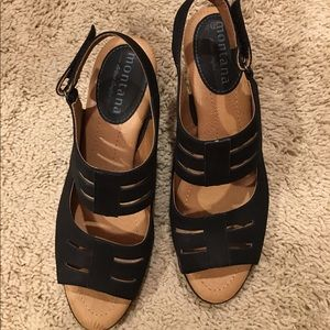 Montana Artisan Crafted Leather Black Sandals 8