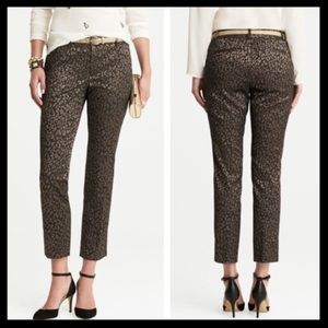 banana republic // ombré leopard camden pants