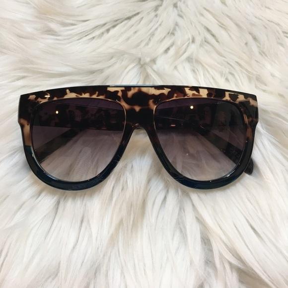 aeecde7ea75 Two Toned Tortoise Shell Flat Top Sunglasses