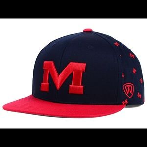 Top of the World Other - 🆕 Ole Miss SnapBack All Flocking NCAA Hat NWT