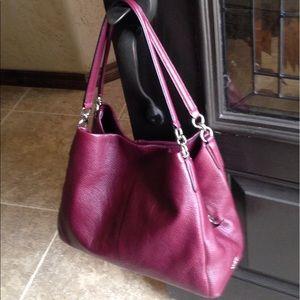 Coach Pheobe Pbld Leather Shoulder Bag/Burg