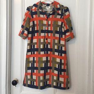 Vintage Milly Silk Print Shirt Dress 2