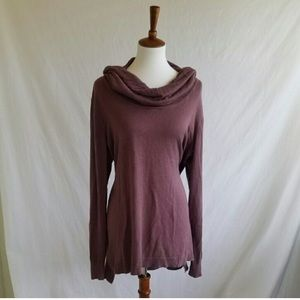 Maurices Sweaters - Maurices Purple Slouchy Cowl Neck Top