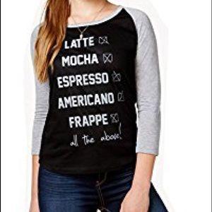 2Kuhl Graphic Coffee Tee NEW NWT Juniors S Black