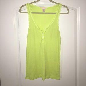 Lime green Victoria's Secret sleep tank