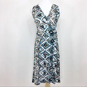 Loveappella Dresses & Skirts - Loveappella Stitchfix Stef Faux Blue Wrap Dress