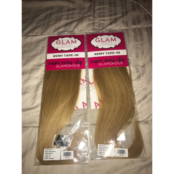 Glam Seamless Accessories Hair Extensions Dirty Blonde 14 In