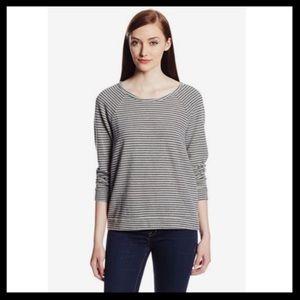 soft joie // annora b striped sweatshirt top