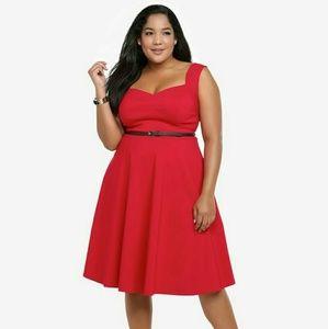 NWT 1hr Sale Torrid Red Retro Skater Dress Size 18