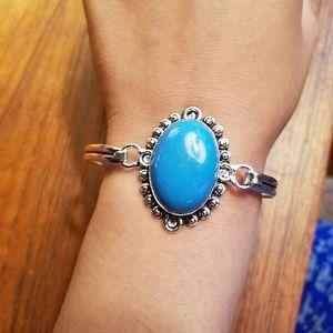 Jewelry - NWOT Sterling Sleeping Beauty Turquoise Bracelet