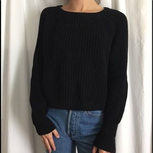 American Apparel Sweaters - black AA/american apparel crew neck small