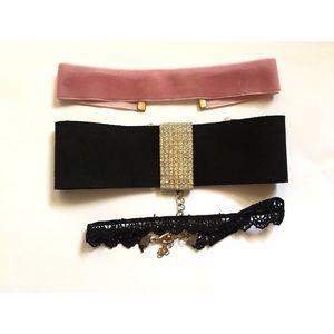 Jewelry - ✨LOT OF 3 CHOKERS✨