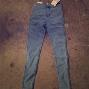 American Apparel Denim - High waisted leggings