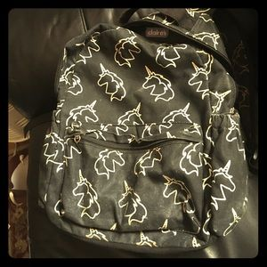Claire's Handbags - Glow-in-the-dark unicorn backpack❤️