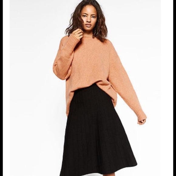 2ec145efc5 Zara Skirts | Knit Black Midi Skirt Nwt | Poshmark