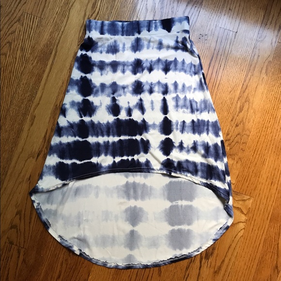 33 poof other tie dye high low skirt from