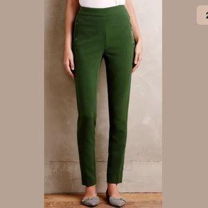 Cartonnier Anthropologie Green high rise pants 0