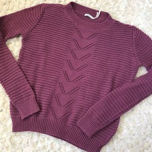 UO Mauve Lightweight Airy Sweater