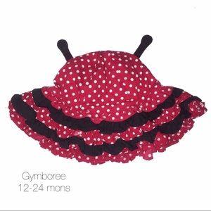 Gymboree Red Lady Bug Polka Dot Hat 12-24 mon