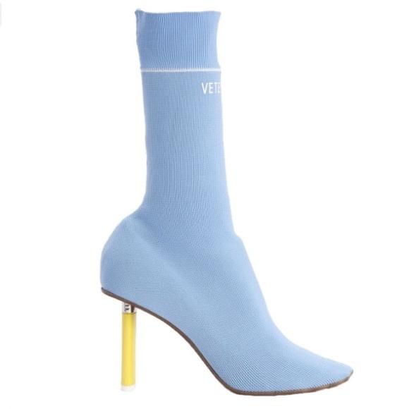 Vetements Sock Boots Baby Blueyellow