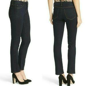 L'AGENCE Denim - L'AGENCE Coco MidRise Slim Straight Dark Wash Jean