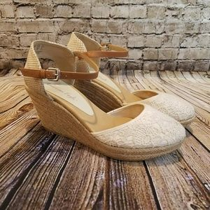 American Eagle Espadrille & Lace Wedge