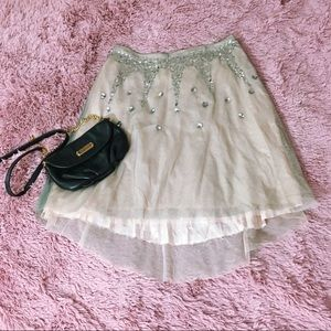 Lux Tulle Skirt with Gems Fun Flirty