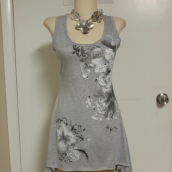cute summer short high low tank dress l from toogoods