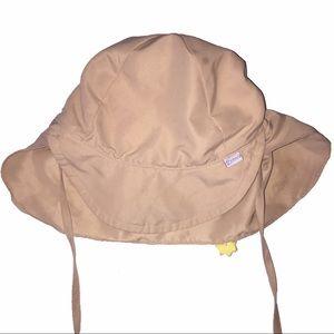 I play Tan infant neck flap sun hat 6-18 mon