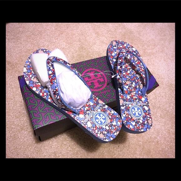 d66472bae8e15a 24 HOUR SALE❤️Tory Burch confetti flip-flops