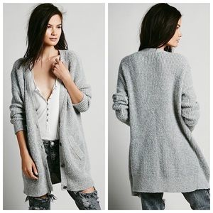 Free People Cloudy Day Gray Cardigan