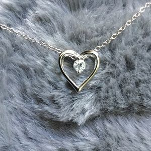 Sterling silver, Small Heart Necklace