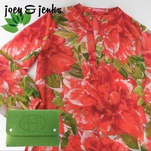 Isaac Mizrahi Tops - *NEW LISTING*Isaac Mizrahi Orange & Pink Tunic Top
