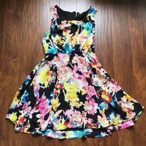 As U Wish Dresses & Skirts - As U Wish Multi Colored Floral Dress Juniors XL